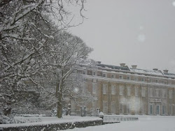 Petworth House in the snow