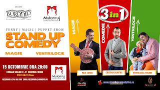Stand-Up Comedy, Magie si Ventrilocie Joi 15 Octombrie Bucuresti