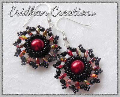 beaded superduo earrings