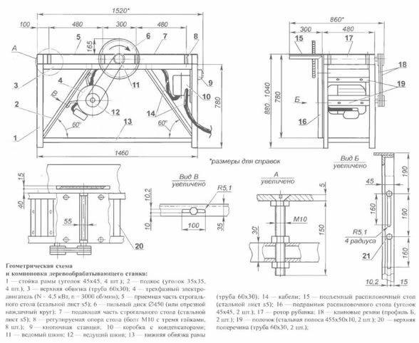 Схема подключения циркулярки