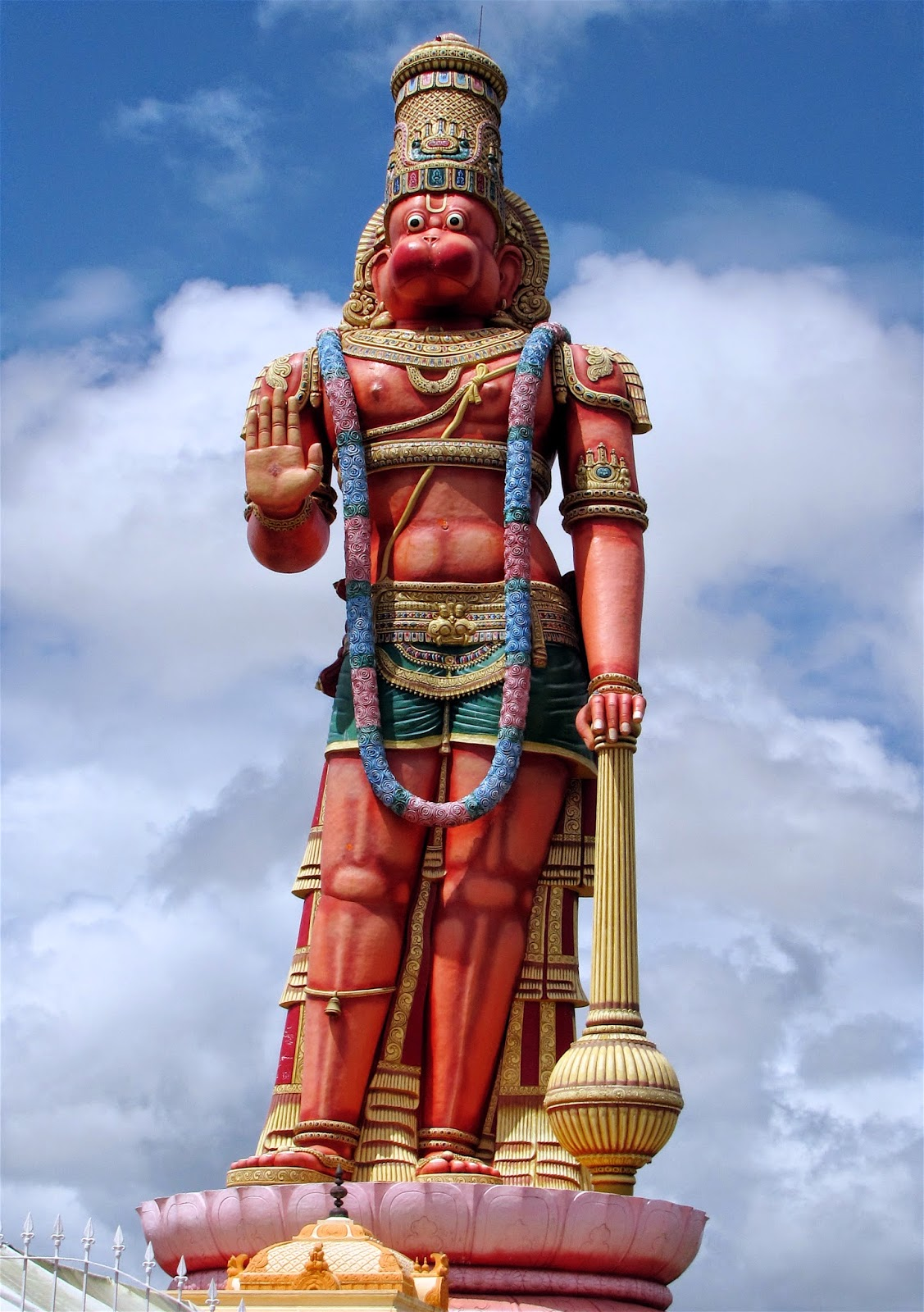 An incredible Lord Hanuman 85 feet tall statue of Trinidad.