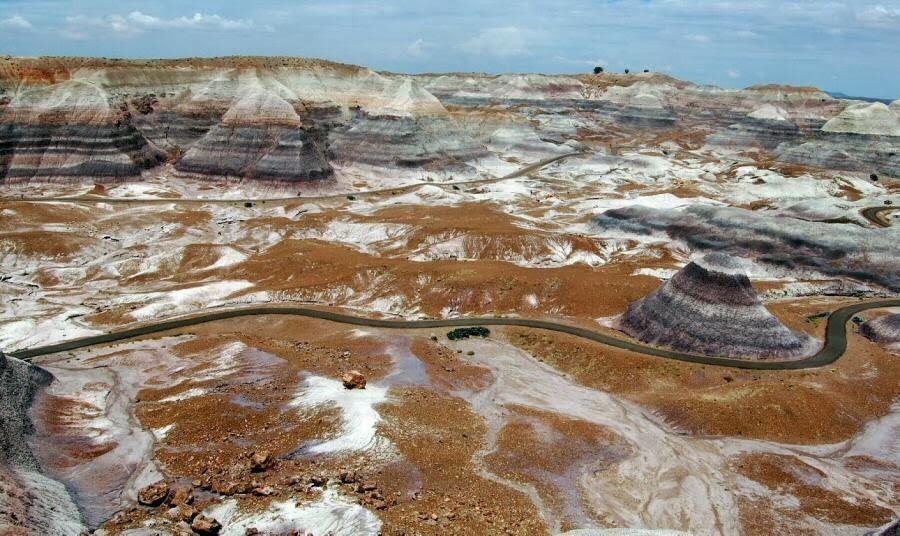 El Parque Nacional del Bosque Petrificado en Arizona