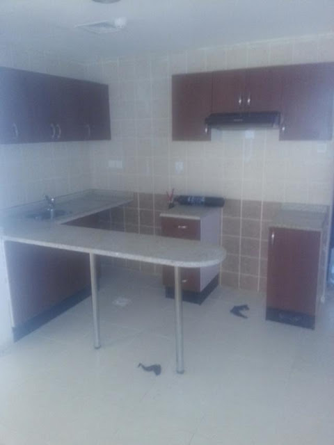 Kitchen view of Garden City Ajman 1brh available for rent 17000 per year