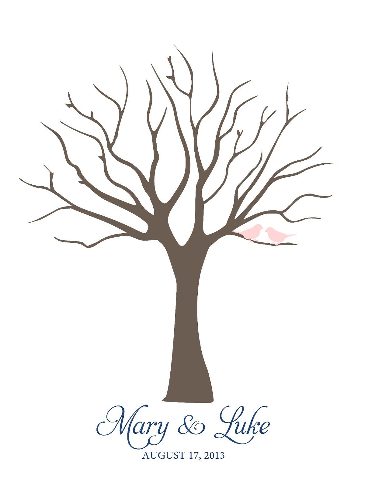 wedding fingerprint tree template .