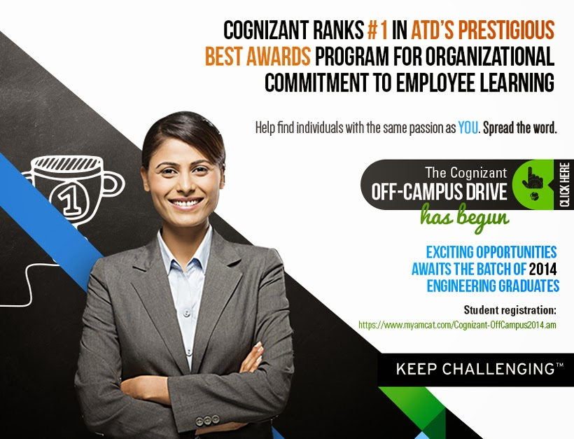 CTS Off Campus Drive For 2014 Batch
