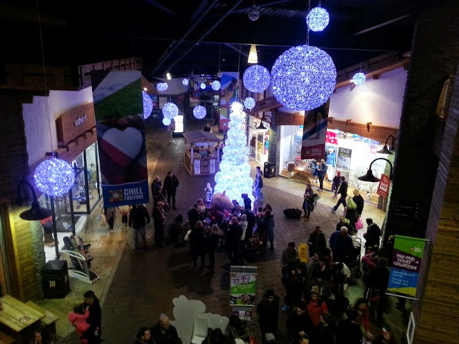 Chill Factore foyer with gorgeous Christmas tree