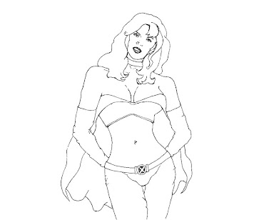 #10 Emma Frost Coloring Page