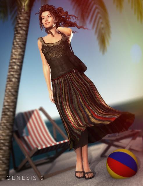 Jupe Maxi Outfit et bourse pour Genesis 2 Femme