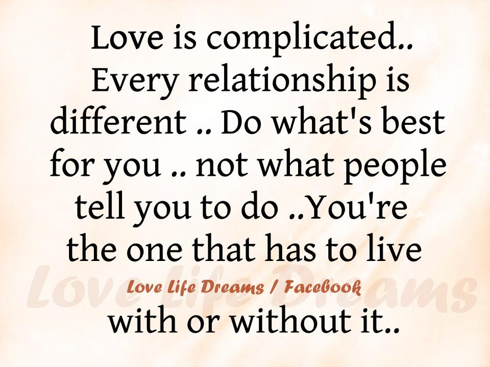 what is complicated love
