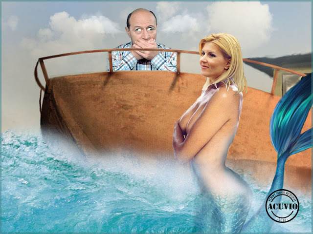 Funny photo Traian Basescu Elena Udrea Povesti marinaresti