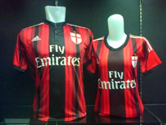 Update Jersey New Stock Baju Bola Couple Pasangan Cewe Cowo Ac Milan Home Terbaru Warna Merah Hitam Rossoneri Official Musim 15