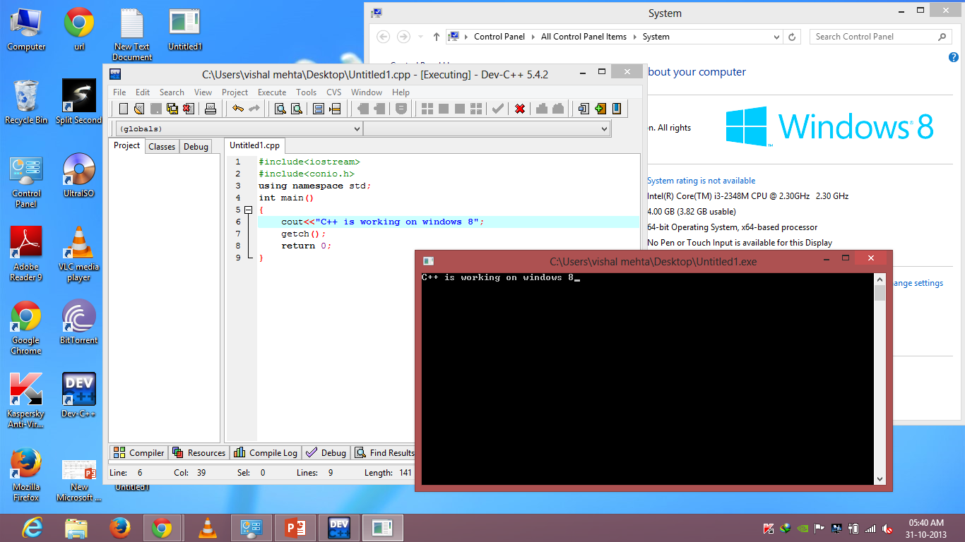 dev c++ windows 8 Windows