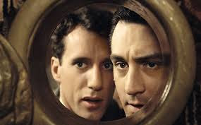 Robert De Niro, James Woods in Once Upon a Time in America (1984), Directed by Sergio Leone, both look their faces in the mirror