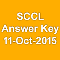 SCCL Junior Assistant Exam Answer Key 2015