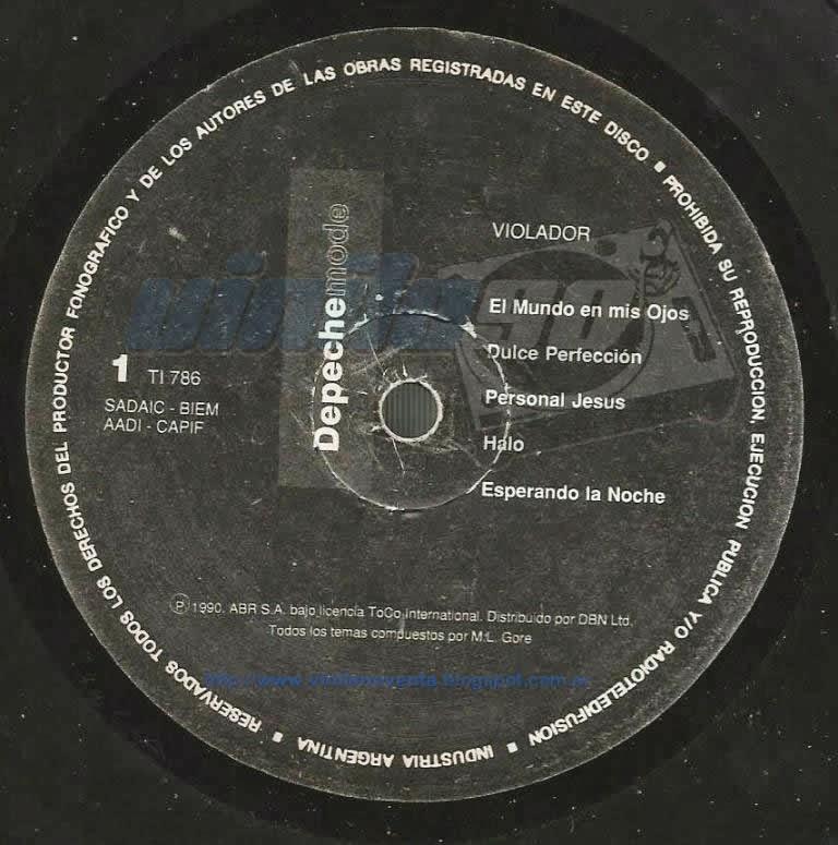 Depeche mode violator 1990 ti786 vinilo noventa