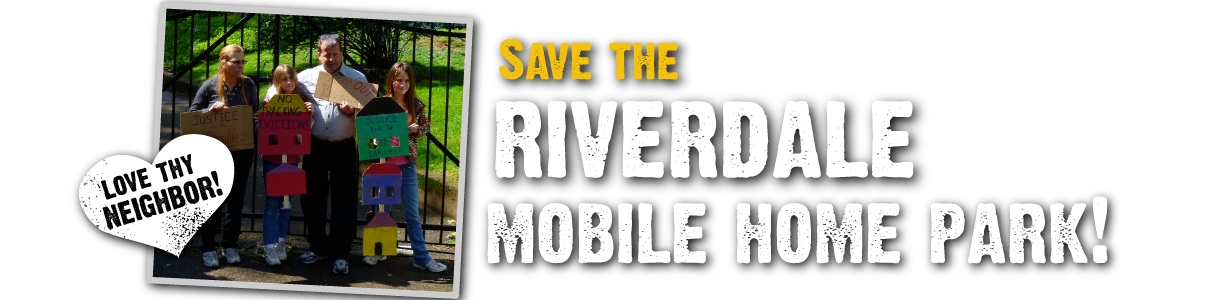 Save the Riverdale Mobile Home Park!