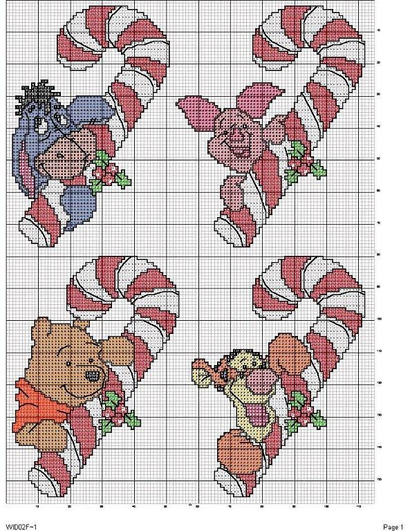 Una locura de ideas de punto de cruz winnie de pooh y for Punto croce disney winnie the pooh