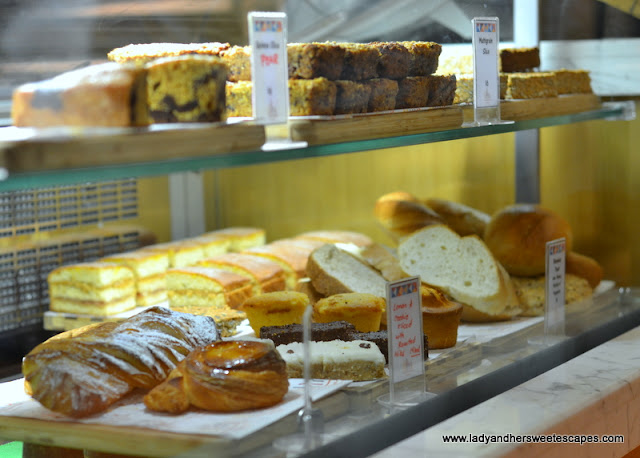 pastry counter in Ultra Brasserie