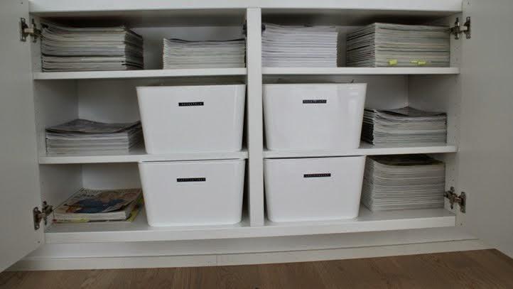 sisustuslehdet, säilytyslaatikko