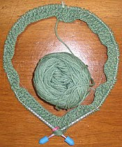 Circular Knitting Needles and Cotton Yarn