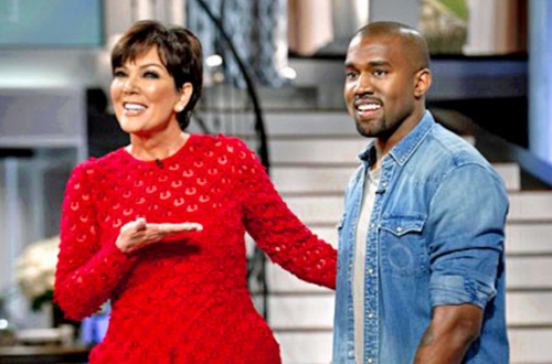 Kanye West appears on the Kris Jenner show