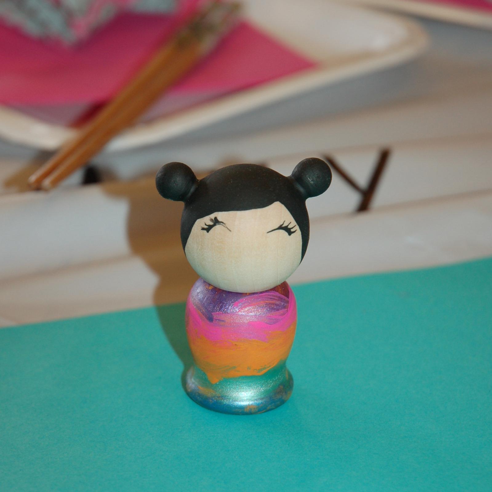 how to make kokeshi dolls