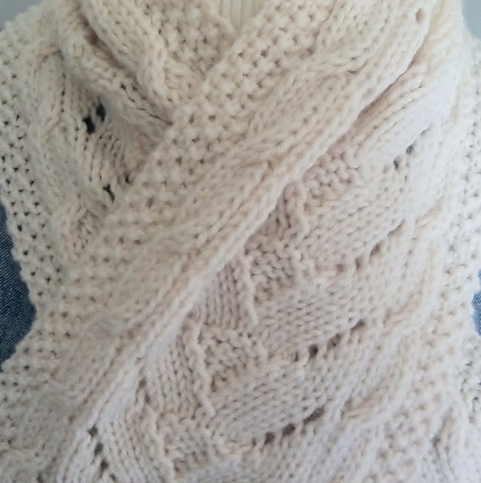 cable lace scarf  hand knit pattern