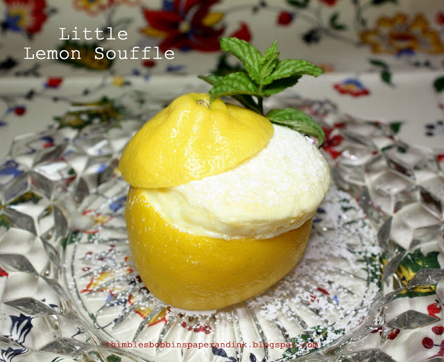 Little Lemon Souffle by Thimbles, Bobbins, Paper and Ink