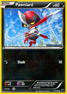 Pawniard Plasma Freeze Pokemon Card