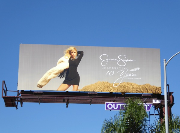 Jessica Simpson 10 years billboard