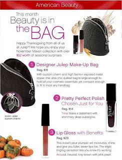 American Beauty November, Julep Trina, Julep Lipgloss, Julep Arousal, Julep Maven November