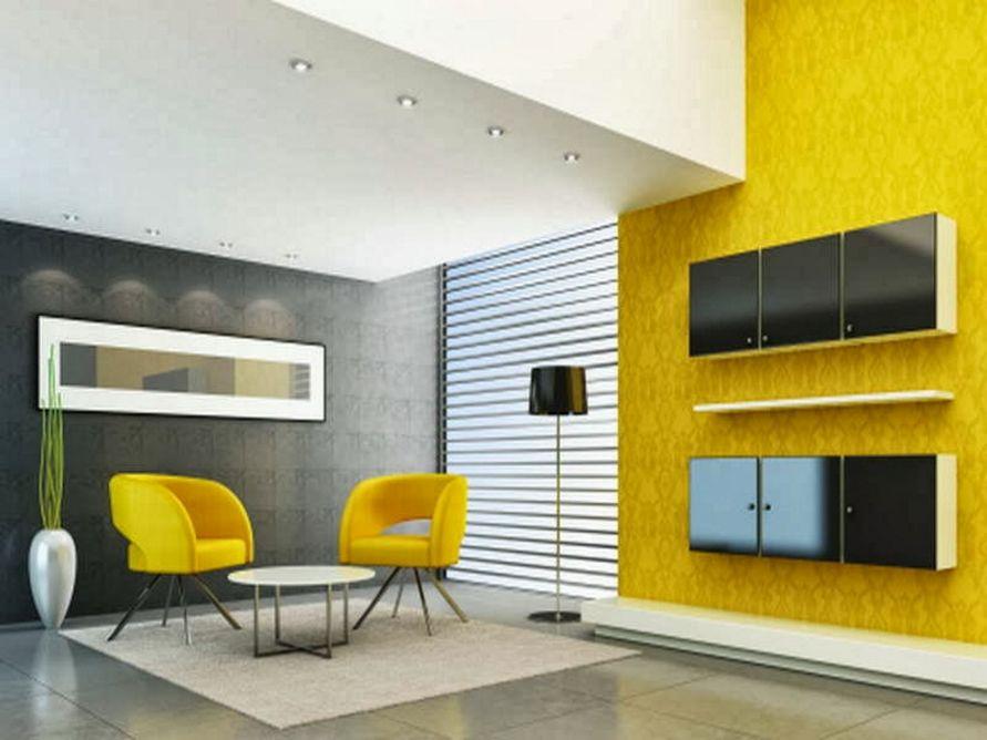 kreativitas cat interior dalam rumah populer