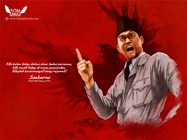 Soekarno. Berbagai gerakan politik yang diusung oleh Soekarno, juga ...