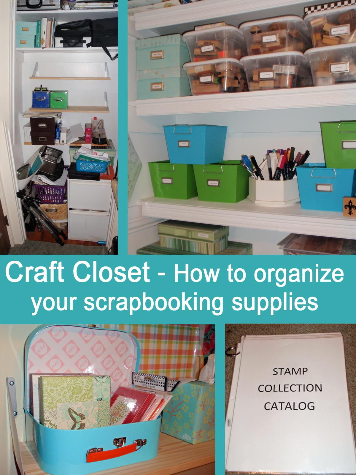 My Great Challenge: Craft Closet   How I Organize Scrapbooking Supplies