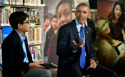 President Obama talking about e-books