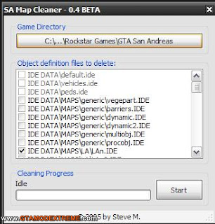 Map Cleaner 0.4 Para GTA San Andreas