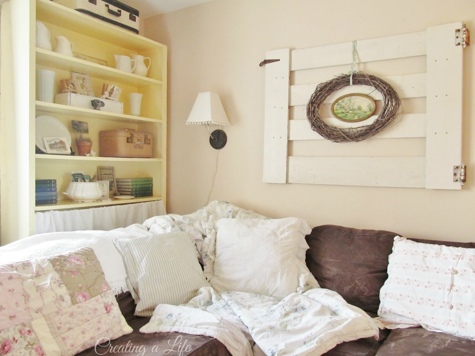 Creating A Life: Pulling It All Together- Cottage Style Living Room