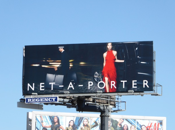 Net-A-Porter red dress FW15 billboard