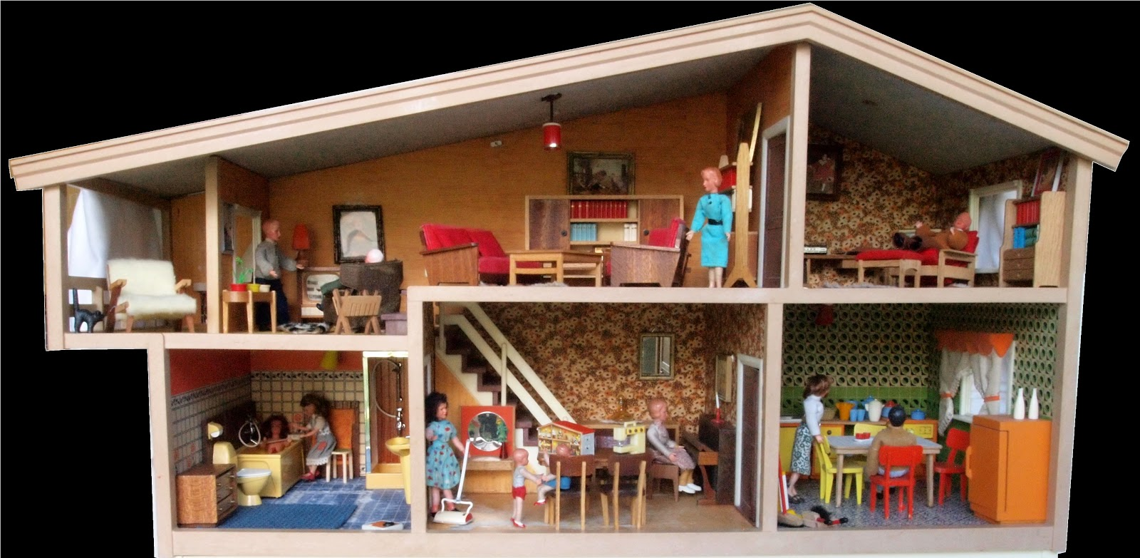 wandgestaltung wohnzimmer wohnzimmerschrank puppenhaus. Black Bedroom Furniture Sets. Home Design Ideas