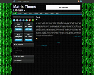 Matrix Blogger Template