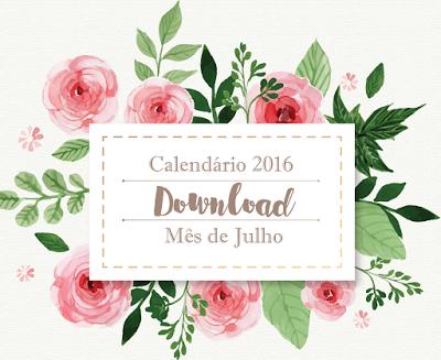 Download - Calendário Julho