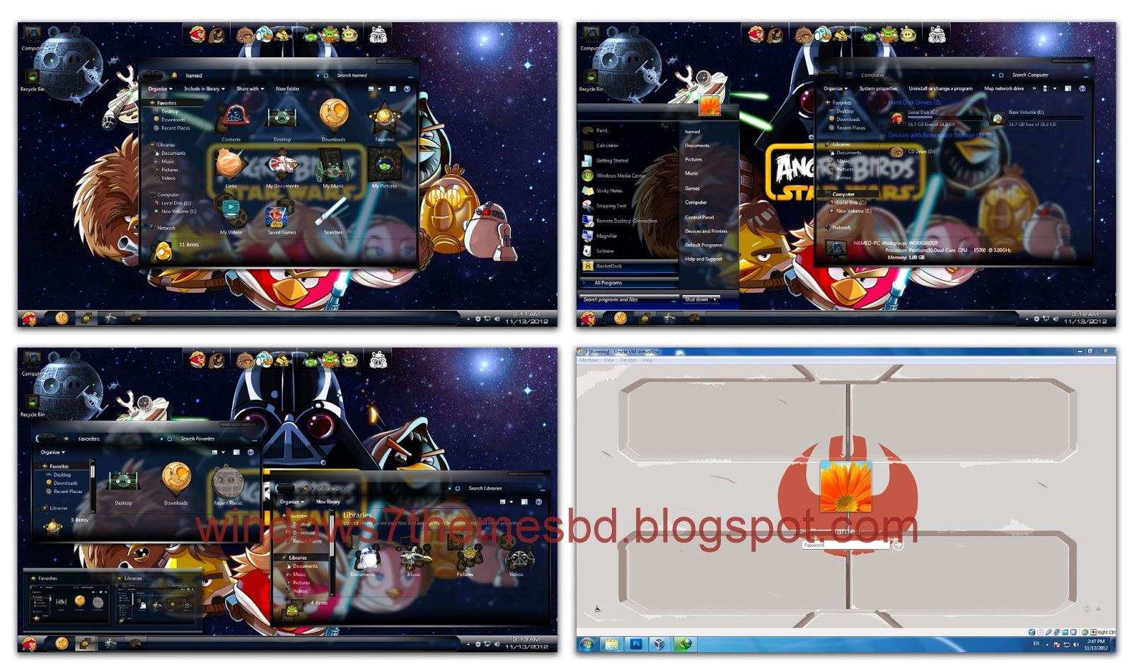 ransform Windows 7 to Angry Birds StarWars Game