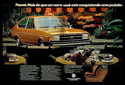 propaganda Passat - 1979. propaganda anos 70. propaganda carros anos 70. reclame anos 70. Oswaldo Hernandez.