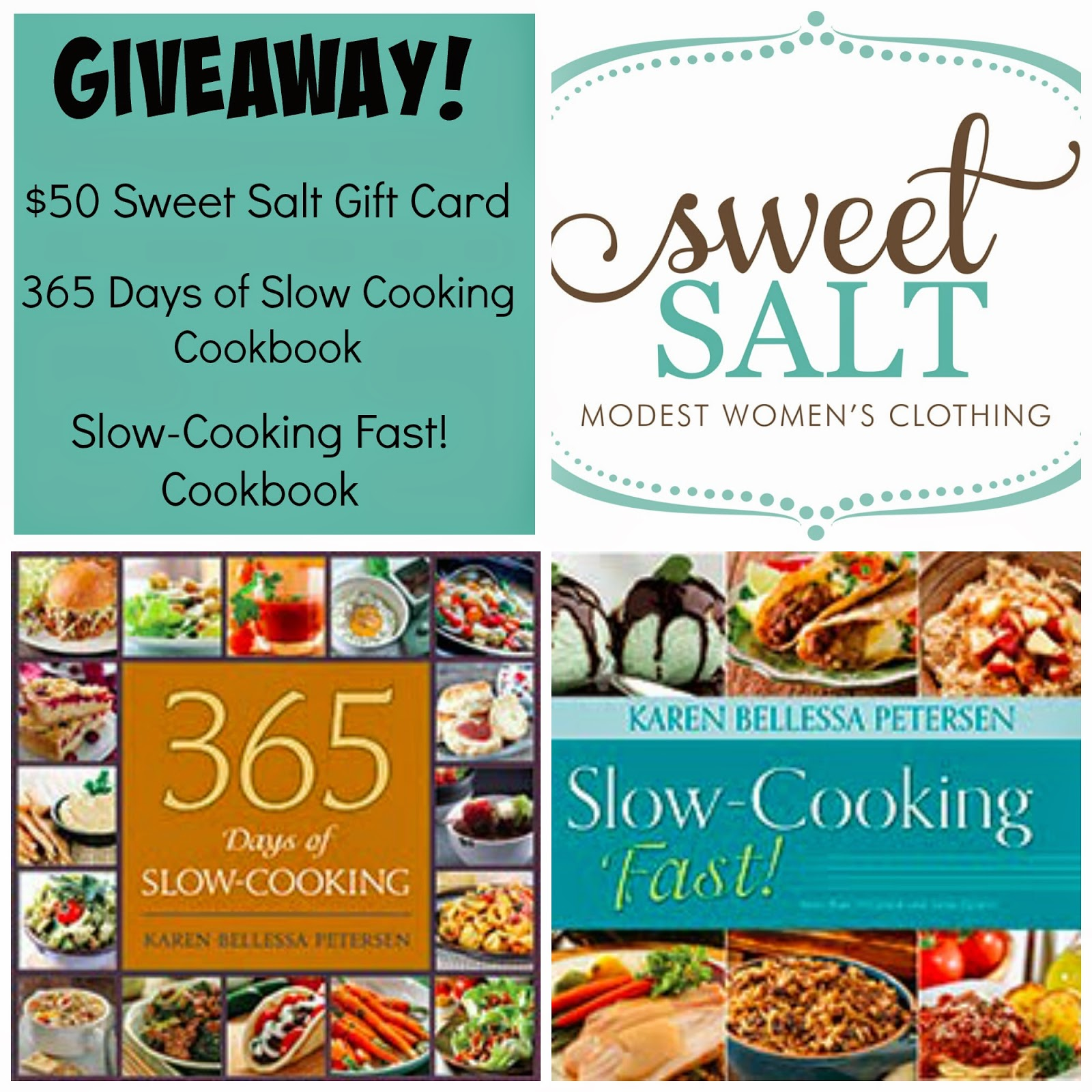 Sweet salt clothing giveaway plus 365 days of slow cooking and Slow Cooking Fast!