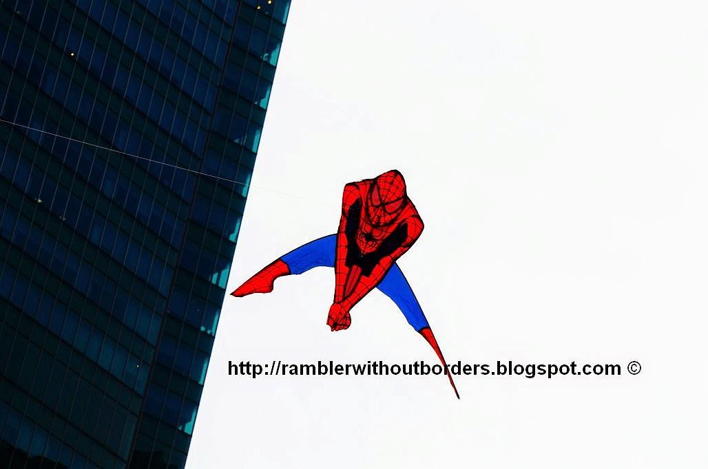Spiderman kite, Singapore