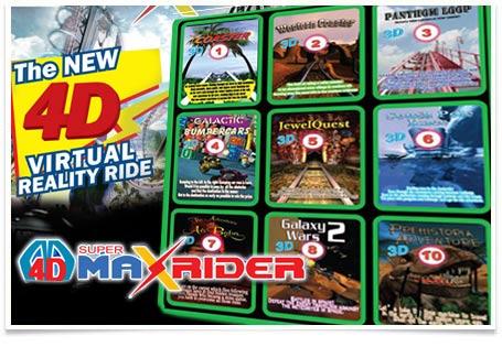 4D Super Max Rider Virtual Reality Rides
