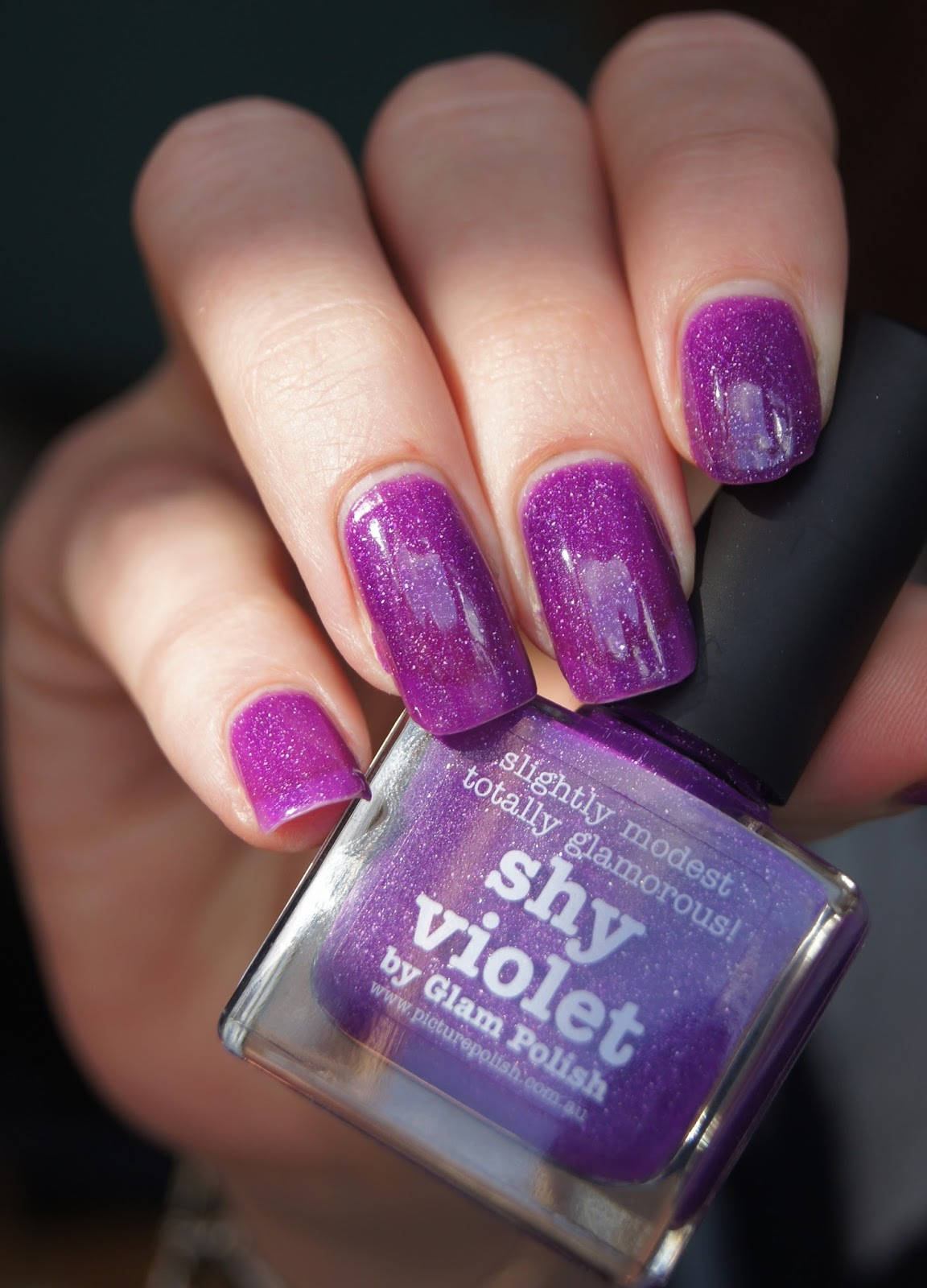 shy violet picture polish