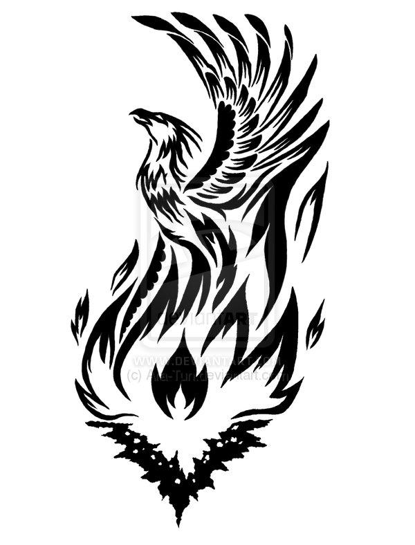nail art designs tribal phoenix tattoos for men. Black Bedroom Furniture Sets. Home Design Ideas