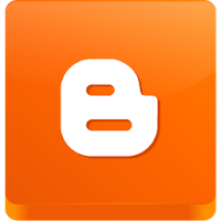 Orange Square 3D Blogger Logo