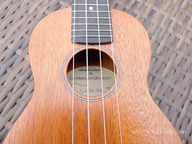 DJ Morgan Soprano ukulele sound hole